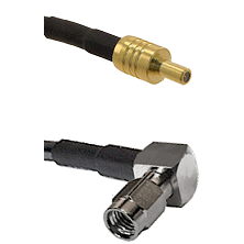 SSLB Male on LMR100 to SSMA Right Angle Male Cable Assembly