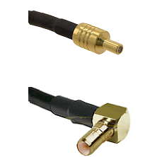 SSLB Male on LMR100/U to SSMB Right Angle Male Cable Assembly