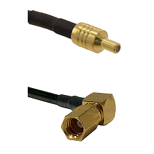 SSLB Male on LMR100 to SSMC Right Angle Female Cable Assembly