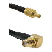 SSLB Male on LMR100 to SMA Reverse Thread Right Angle Female Bulkhead Cable Assembly