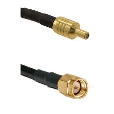 SSLB Male on LMR100 to SMA Reverse Thread Male Cable Assembly