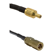 SSLB Male on LMR100 to SLB Female Cable Assembly