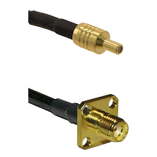 SSLB Male on LMR100 to SMA 4 Hole Female Cable Assembly