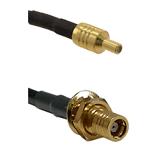 SSLB Male on LMR100 to SMB Female Bulkhead Cable Assembly