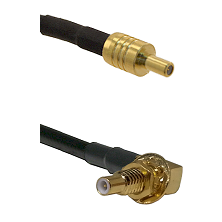 SSLB Male on LMR100/U to SSLB Male Bulkhead Cable Assembly