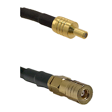 SSLB Male on LMR100/U to SSMB Female Cable Assembly