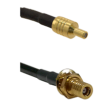 SSLB Male on LMR100 to SSMB Female Bulkhead Cable Assembly
