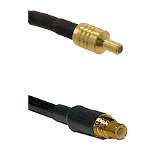 SSLB Male on RG174 to SSMC Male Cable Assembly
