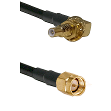 SSLB Male Bulkhead on Belden 83242 RG142 to SMA Male Cable Assembly