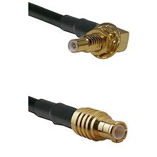 SSLB Male Bulkhead on LMR100/U to MCX Male Cable Assembly