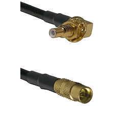 SSLB Male Bulkhead on LMR100/U to MMCX Female Cable Assembly