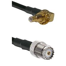 SSLB Male Bulkhead on LMR100 to Mini-UHF Female Cable Assembly