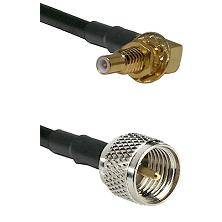 SSLB Male Bulkhead on LMR100 to Mini-UHF Male Cable Assembly
