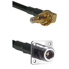 SSLB Male Bulkhead on LMR100 to N 4 Hole Female Cable Assembly
