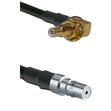 SSLB Male Bulkhead on LMR100 to QMA Female Cable Assembly