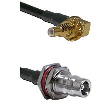 SSLB Male Bulkhead on LMR100 to QN Female Bulkhead Cable Assembly