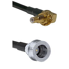 SSLB Male Bulkhead on LMR100 to QN Male Cable Assembly