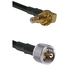 SSLB Male Bulkhead on LMR195 to UHF Male Cable Assembly