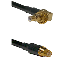 SSLB Male Bulkhead on RG142 to SSMC Male Cable Assembly