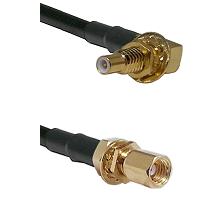 SSLB Male Bulkhead on RG188 to SSMC Female Bulkhead Cable Assembly