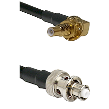 SSLB Male Bulkhead on RG223 to SHV Plug Cable Assembly