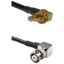 SSLB Male Bulkhead on RG400 to MHV Right Angle Male Cable Assembly