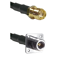 SSMA Female on LMR100 to N 4 Hole Female Cable Assembly