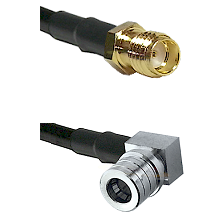 SSMA Female on RG188 to QMA Right Angle Male Cable Assembly