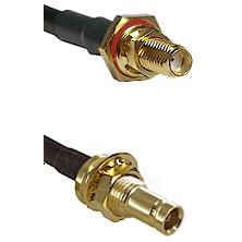 SSMA Female Bulkhead on LMR100 to 10/23 Female Bulkhead Cable Assembly