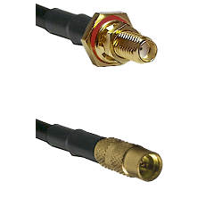 SSMA Female Bulkhead on LMR100 to MMCX Female Cable Assembly