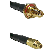 SSMA Female Bulkhead on LMR100 to MMCX Male Cable Assembly