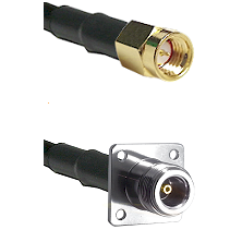 SSMA Male on RG188 to N 4 Hole Female Cable Assembly