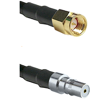 SSMA Male on RG188 to QMA Female Cable Assembly
