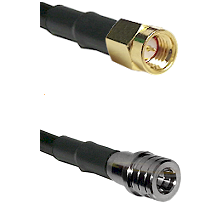 SSMA Male on RG188 to QMA Male Cable Assembly
