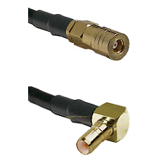 SSMB Female on Belden 83242 RG142 to SSMB Right Angle Male Cable Assembly