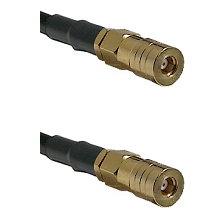SSMB Female on Belden 83242 RG142 to SSMB Female Cable Assembly