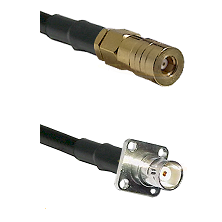 SSMB Female on LMR100 to BNC 4 Hole Female Cable Assembly