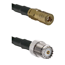 SSMB Female on LMR100 to Mini-UHF Female Cable Assembly