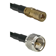 SSMB Female on LMR100 to Mini-UHF Male Cable Assembly