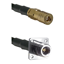 SSMB Female on LMR100 to N 4 Hole Female Cable Assembly