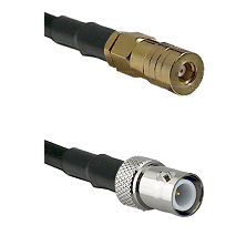 SSMB Female on LMR100 to BNC Reverse Polarity Female Cable Assembly