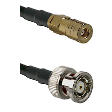 SSMB Female on LMR100 to BNC Reverse Polarity Male Cable Assembly