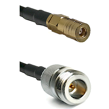 SSMB Female on LMR100 to N Reverse Polarity Female Cable Assembly