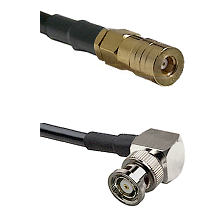 SSMB Female on LMR100 to BNC Reverse Polarity Right Angle Male Cable Assembly