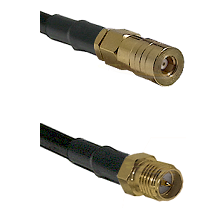 SSMB Female on LMR100 to SMA Reverse Polarity Female Cable Assembly