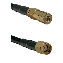 SSMB Female on LMR100 to SMA Reverse Polarity Male Cable Assembly