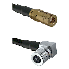 SSMB Female on LMR100 to QMA Right Angle Male Cable Assembly