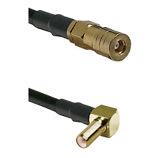 SSMB Female on LMR100 to SLB Right Angle Male Cable Assembly
