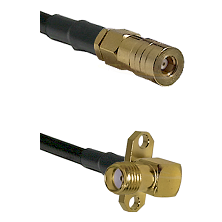 SSMB Female on LMR100 to SMA 2 Hole Right Angle Female Cable Assembly