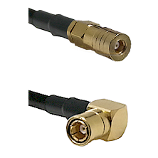 SSMB Female on LMR100 to SMB Right Angle Female Cable Assembly